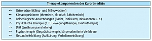 Therapiekomponenten der Kurortmedizin